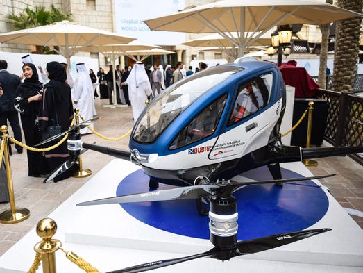 Drone Taxis Dubai Plans Roll Out Of Self Flying Pods