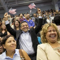 First naturalization ceremony held at the World Trade Center site since 9/11