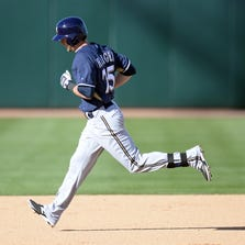 Outfielder Mitch Haniger was traded to the Diamondbacks in the deal that sent Gerardo Parra to the Milwaukee Brewers.