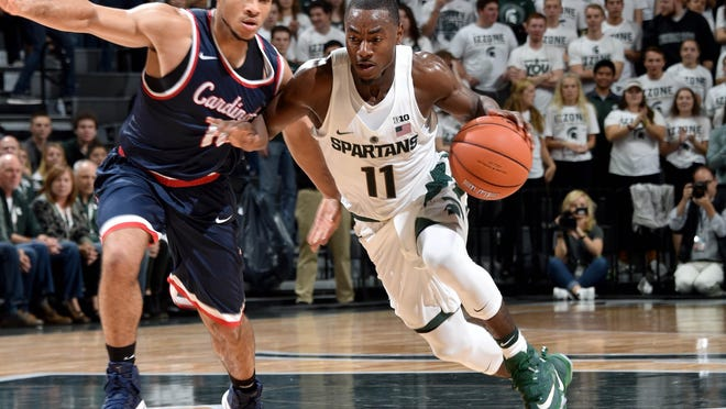 Lourawls Nairn was able to show teammates where he grew up during the Spartans' trip to the Bahamas.