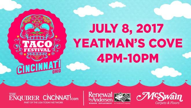 Cincinnati Taco Festival Promo PNG