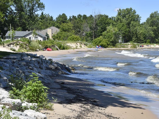 There has been significant erosion on many shorelines in Door County, leading some to protect their yards with rip rap.