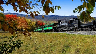 The Cass Scenic Railroad carries visitors on a historic rail line that once hauled lumber out of West Virginia's mountains.