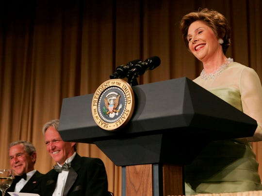 First lady Laura Bush steals the show during the annual