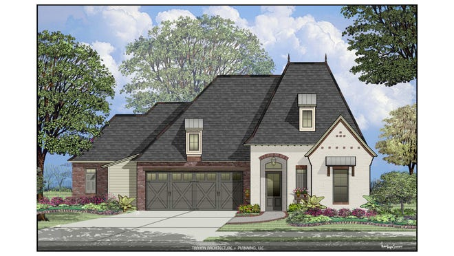 """A rendering of this year's Home for the Holidays """"Grand Prize,"""" a home at 611 Channel Drive in Broussard."""
