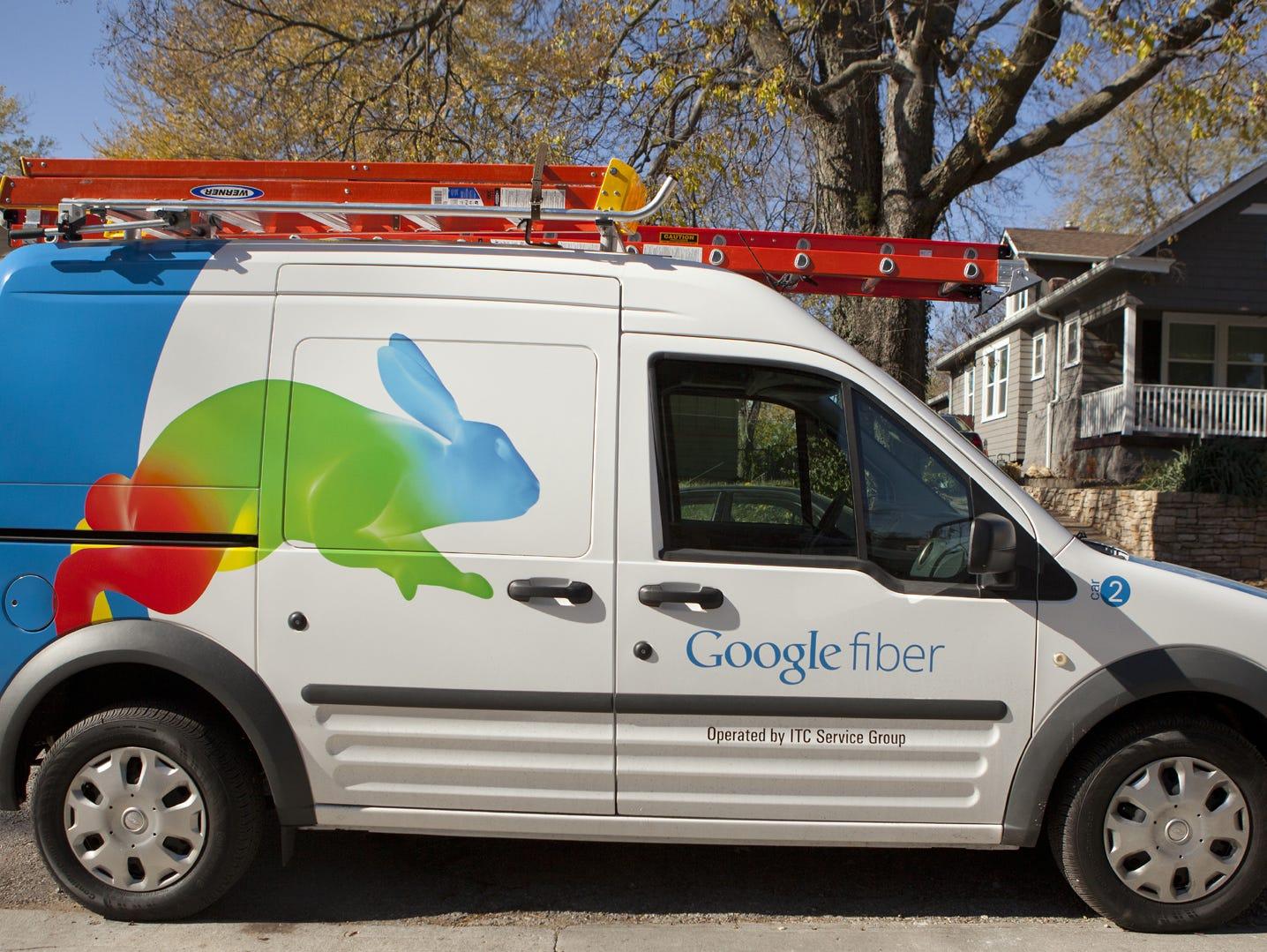 Google Fiber van