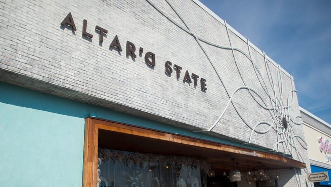 The store front of Altar'd State's Turkey Creek location.