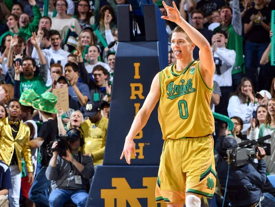 Fighting Irish guard Rex Pflueger is a vocal leader.