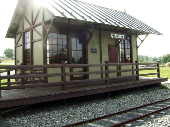 The Quincy Station on display at Norlo Park