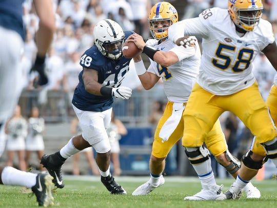 Penn State's Shareef Miller earned two sacks against
