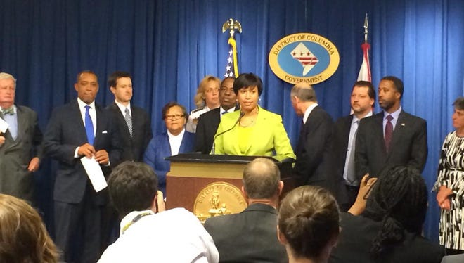 Mayor Bowser said the District is moving forward with Initiative 71 to legalize marijuana