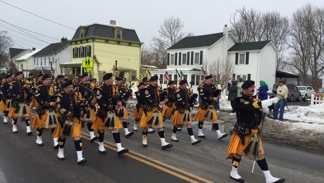 Dutchess County St. Patrick's Parade Committee's 20th annual parade in Wappingers Falls Saturday.