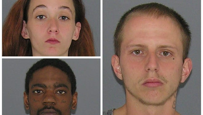 Chasidy Brewer (top left), James Kirby (right) and Mario Lewis (bottom right).