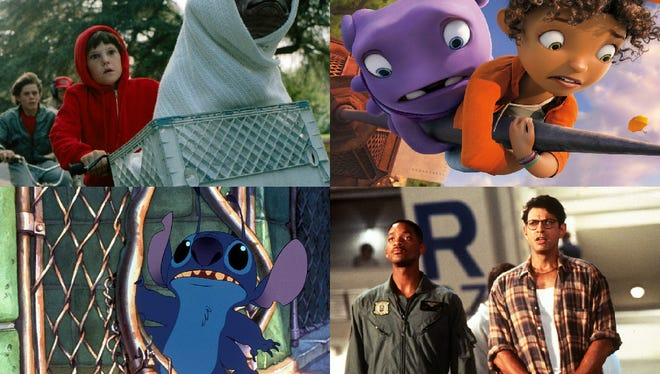 'E.T.', 'Home,' 'Lilo and Stitch,' and 'Independence Day.'