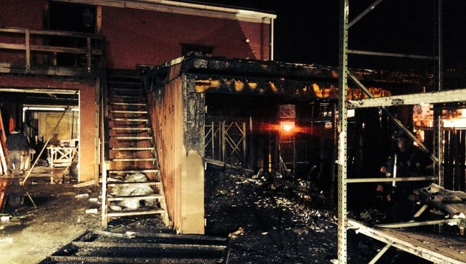 The fire caused moderate damage to the residential/ commercial building on Main Street in Poughkeepsie.