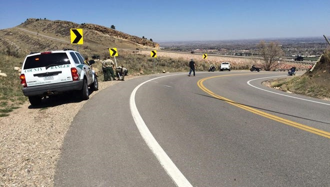 A motorcycle crash on the south side of Horsetooth reservoir is being investigated. Road closed south up to Horsetooth.