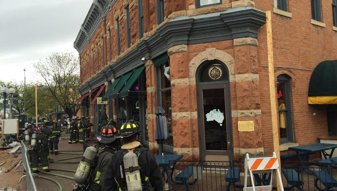 At 1 p.m. on Saturday, a fire Old Town Square brought multiple engines on scene.