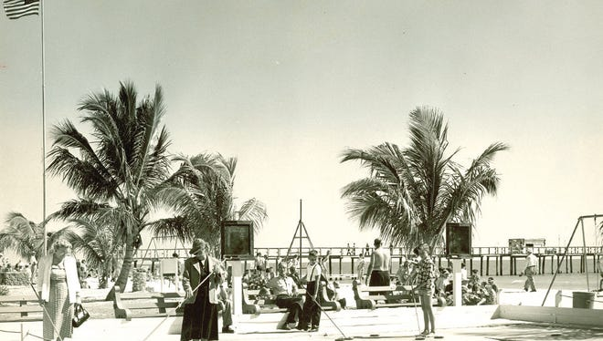 A historic scene from Fort Myers Beach