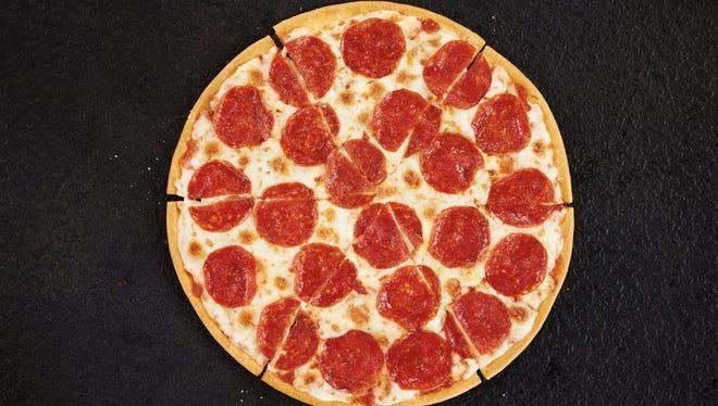 A Pizza Hut gluten free pizza.