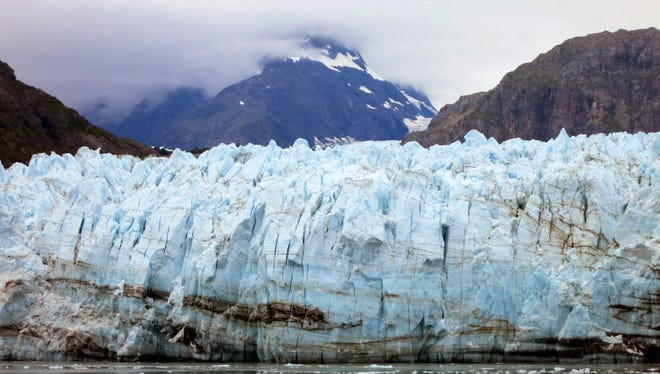 Margerie Glacier is one of many glaciers that make up Alaska's Glacier Bay National Park. In some areas of Alaska, relative sea level is decreasing because as land-based glaciers and ice sheets melt, land is rising faster than sea levels, according to the National Park Service report.