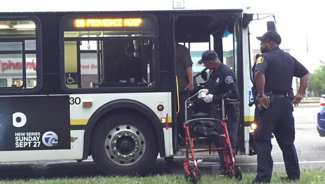 Detroit Police investigated the scene of a fatal stabbing on a transit bus.