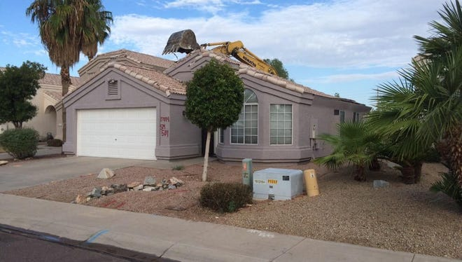 Homes were torn down in advance of Loop 202 construction in Ahwatukee