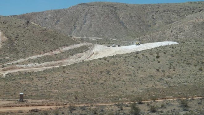 Crews begin work at the site of a new gypsum mine southwest of St. George on Tuesday, Aug. 11, 2015.