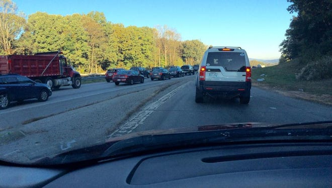 Traffic on I-26 was snarled by several wrecks Tuesday morning.