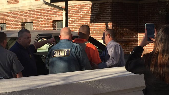 Derrick Stafford arrives at the Avoyelles courthouse for his hearing.