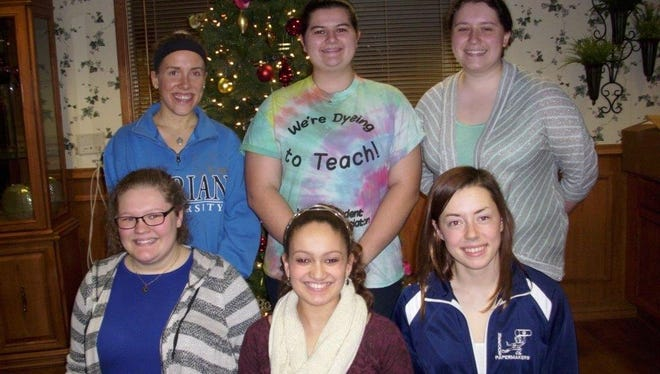Students participating in the Sister Story project included, front row, from left: Claire Kallaus, Halle Castonia and Lexi Brost; and second row, from left: McKenna Rohan, Meghan Schwobe and Katie Schmidt.