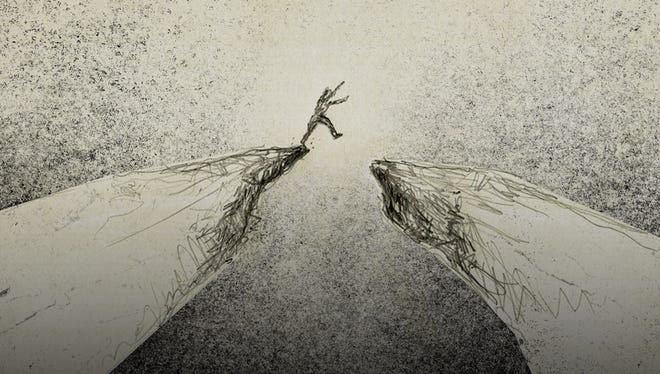 The idea of leaving support is more like leaping over a chasm than flying from the nest.
