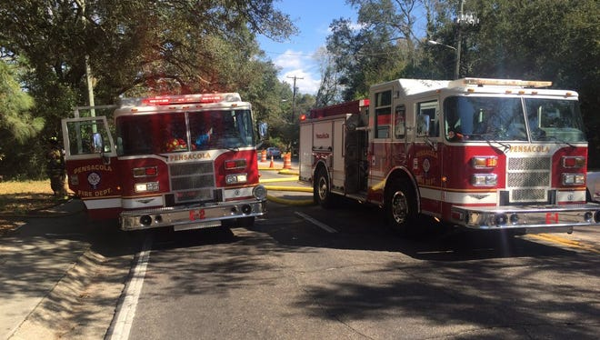 The Pensacola Fire Department is on the scene of a residential fire near the intersection of 12th Avenue and Fairfield Drive.