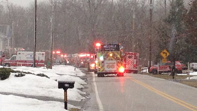 A 50-year-old homeowner was treated Tuesday morning after an electrical fire broke out at her home in Carroll Township, police chief Thomas Wargo said.