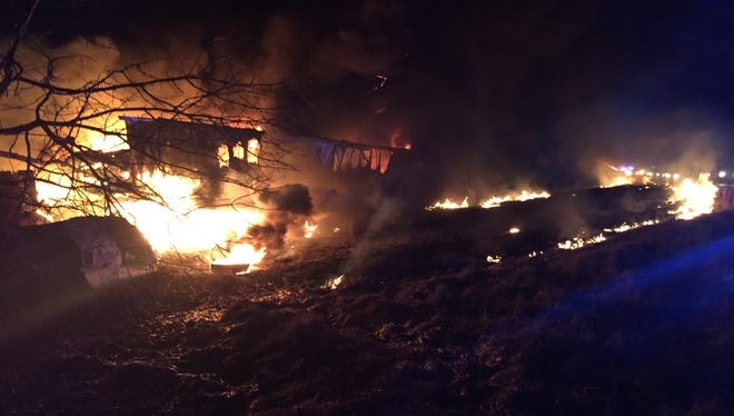 A trucker died after a fiery crash early Wednesday, March 9, 2016, on I-65 in Johnson County.