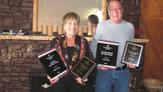 Linda Long, Lister of the Year and Million Dollar Producer for Berkshire Hathaway HomeServices Lynch Realty for 2015; and Paul Park, Salesperson of the Year and Million Dollar Producer for Berkshire Hathaway HomeServices Lynch Realty for 2015