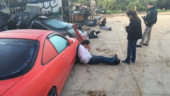 Authorities have uncovered what they believe is a vehicle theft ring based in a Prunedale chop shop.