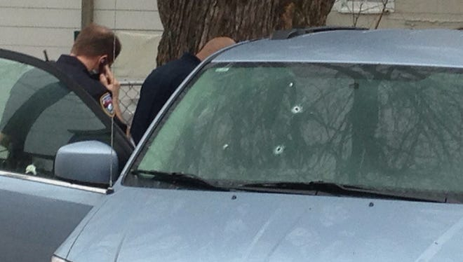 Police investigate a shots fired call in York.