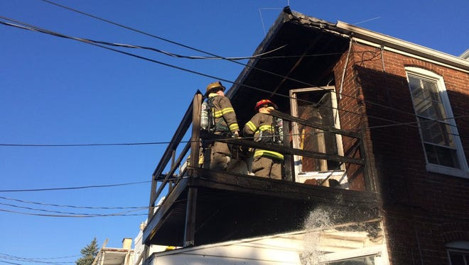 Crews quickly controlled a fire on the 800 block of East Philadelphia Street in York Tuesday evening.