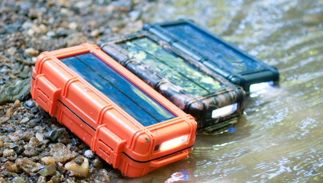 RokPak is a solar power, battery charging dry box for outdoor enthusiasts