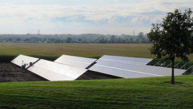 The Congregation of Sisters of St. Agnes has 880 solar panels, the most in the county.