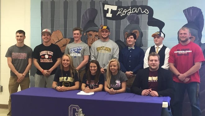 Glen Este had 11 students sign to continue their academic and athletic careers, April 13.