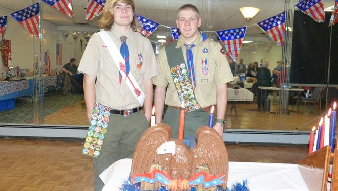 Eric Evans and Thomas Pietrulewicz started as two first graders meeting at an event to join cub scouts, and together they celebrated their Eagle Scout Court of Honor on April 10th, along with family, friends and their scout families.