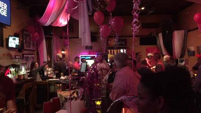 Rain didn't stop members of the community from turning out for the annual Pre-Pink Party Party at The Korner Lounge. The benefit raised at least $2,850 for Easter Seals.