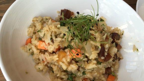OTTO Izakaya's bacon fried rice combines traditional Asian flavor with a smoky kick.