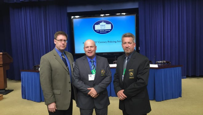 County Administrator Scott Feldt, Sheriff Matt Joski and Chief Deputy David Cornelius visited Washington D. C. as part of the President's 21st Century Policy Initiative.
