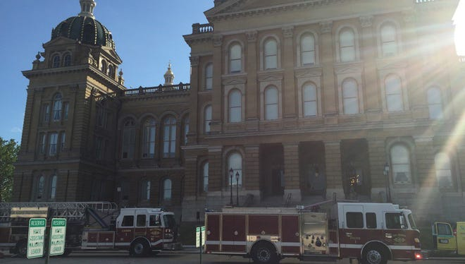 Small fire at Iowa State Capitol June 28.
