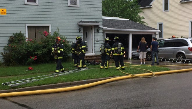 Appleton Fire Department firefighters responded to the 100 block of Sherman Place for a fire on Sunday morning, July 24, 2016.