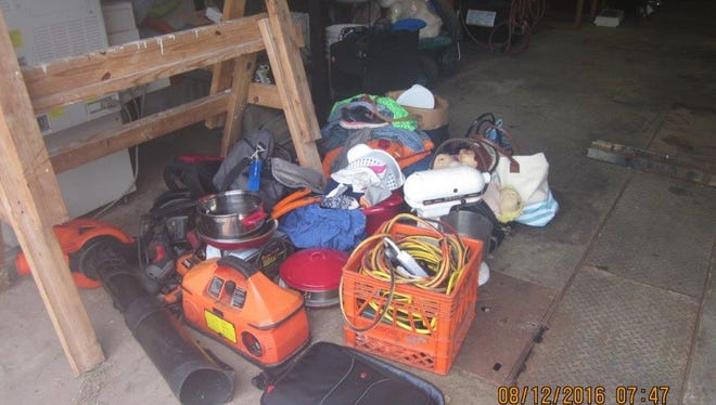 These are some of the items recovered during an investigation of a burglary ring. Three Elmer residents face numerous charges.