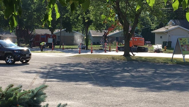 Crews are working to restore a gas leak near Winnebago and Roosevelt Streets in Fond du Lac.