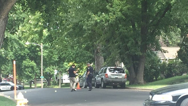 Police investigate after a report of shots fired in the area of 31st and Euclid Avenue.